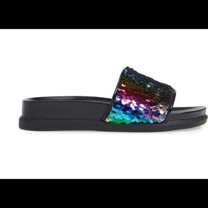 Steve Madden Shoes - Rainbow Sequin slide sandals